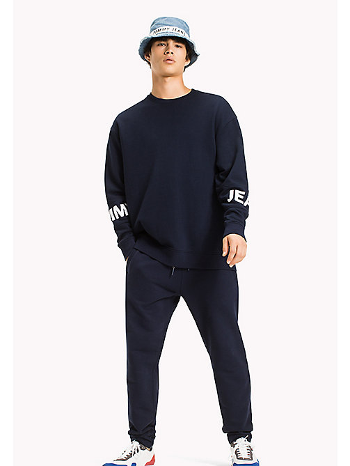 TOMMY JEANS Relaxed Fit Sweatshirt - BLACK IRIS -  MEN - main image
