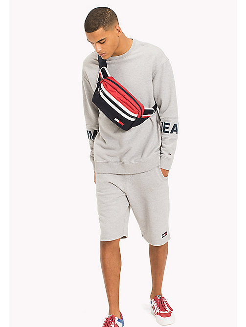 TOMMY JEANS Relaxed Fit Sweatshirt - LT GREY HTR - TOMMY JEANS MEN - main image