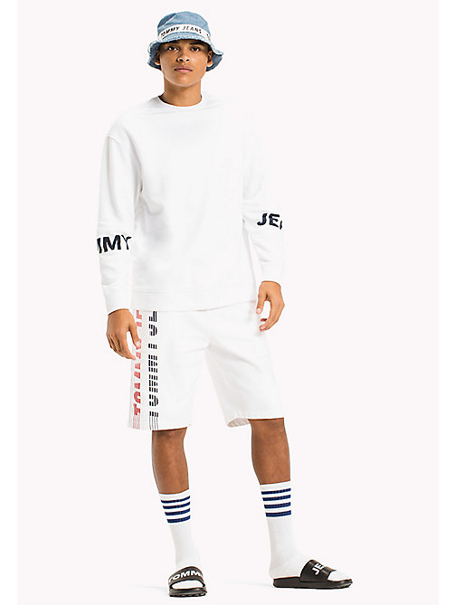 TOMMY JEANS Relaxed Fit Sweatshirt - CLASSIC WHITE - TOMMY JEANS MEN - main image