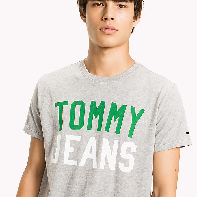 TOMMY JEANS Jersey T-shirt met logo - BLACK IRIS - TOMMY JEANS Heren - detail image 2