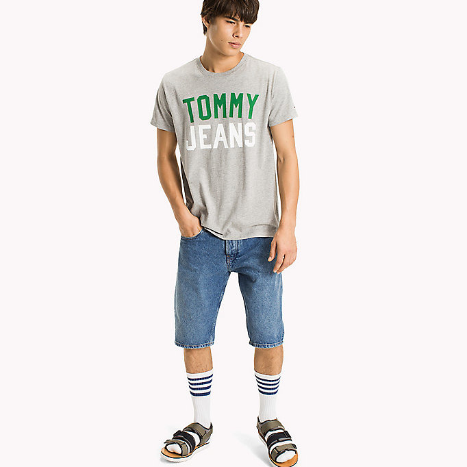 TOMMY JEANS Jersey T-shirt met logo - BLACK IRIS - TOMMY JEANS Heren - main image