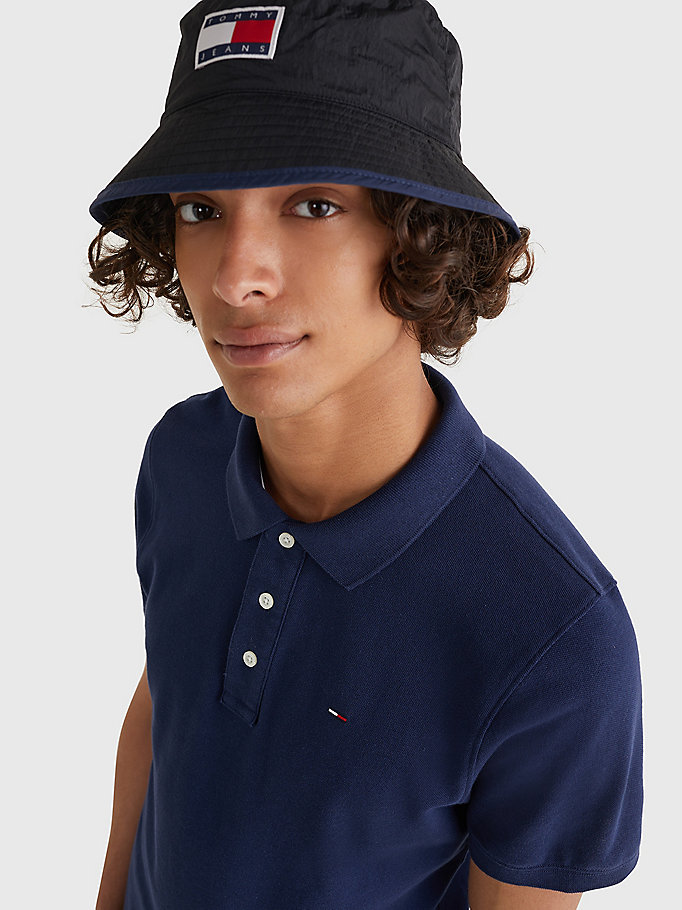 TOMMY JEANS Original Pique Polo Shirt - TOMMY BLACK - TOMMY JEANS Men - detail image 2
