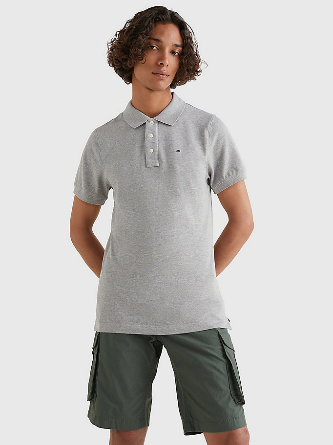 TOMMY JEANS Original Pique Polo Shirt - CLASSIC WHITE - TOMMY JEANS Men - main image