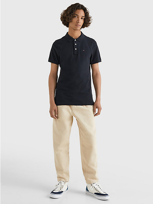 TOMMY JEANS Original Pique Polo Shirt - TOMMY BLACK - TOMMY JEANS T-Shirts & Polos - detail image 1