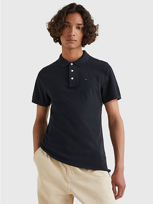 TOMMY JEANS Original Pique Polo Shirt - TOMMY BLACK - TOMMY JEANS T-Shirts & Polos - main image