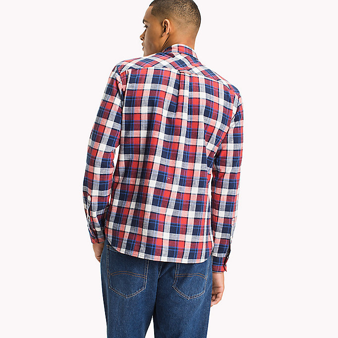 TOMMY JEANS Regular Fit Check Shirt - RACING RED / MULTI - TOMMY JEANS Clothing - detail image 2