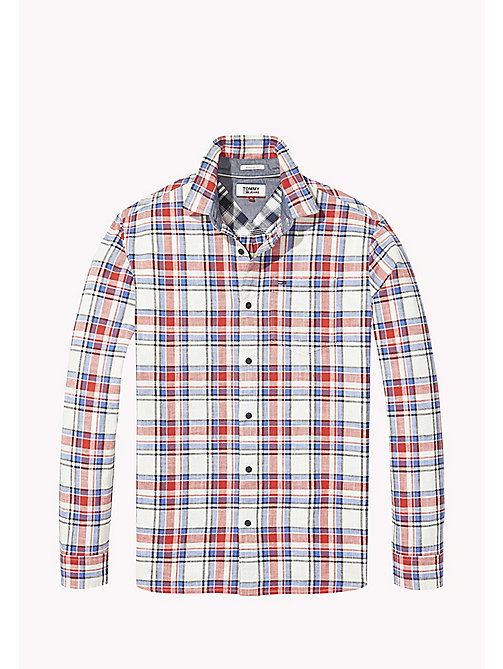 TOMMY JEANS Regular Fit Check Shirt - RACING RED / MULTI - TOMMY JEANS MEN - detail image 1