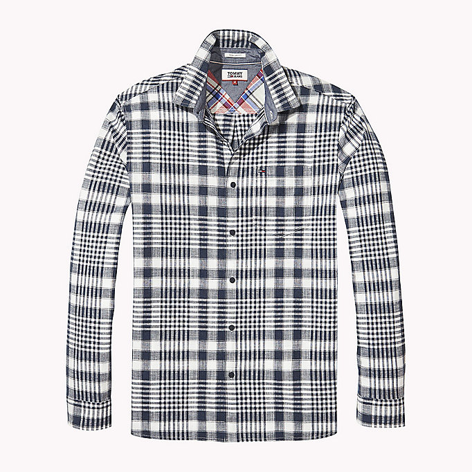 TOMMY JEANS Regular Fit Check Shirt - BLACK IRIS MULTI - TOMMY JEANS Clothing - detail image 1