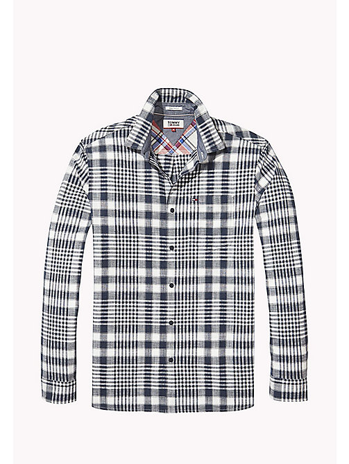 TOMMY JEANS Regular Fit Check Shirt - BLACK IRIS / CLASSIC WHITE - TOMMY JEANS MEN - detail image 1