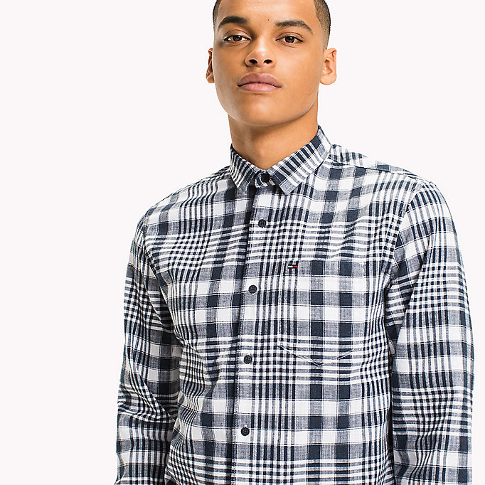 TOMMY JEANS Regular Fit Check Shirt - BLACK IRIS MULTI - TOMMY JEANS Clothing - detail image 3