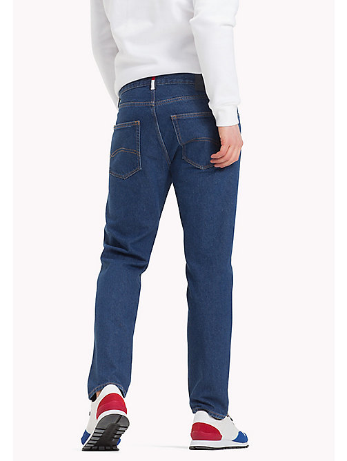 TOMMY JEANS Cropped Regular Fit Jeans - TOMMY JEANS DARK BLUE RIGID - TOMMY JEANS Regular-Fit Jeans - detail image 1