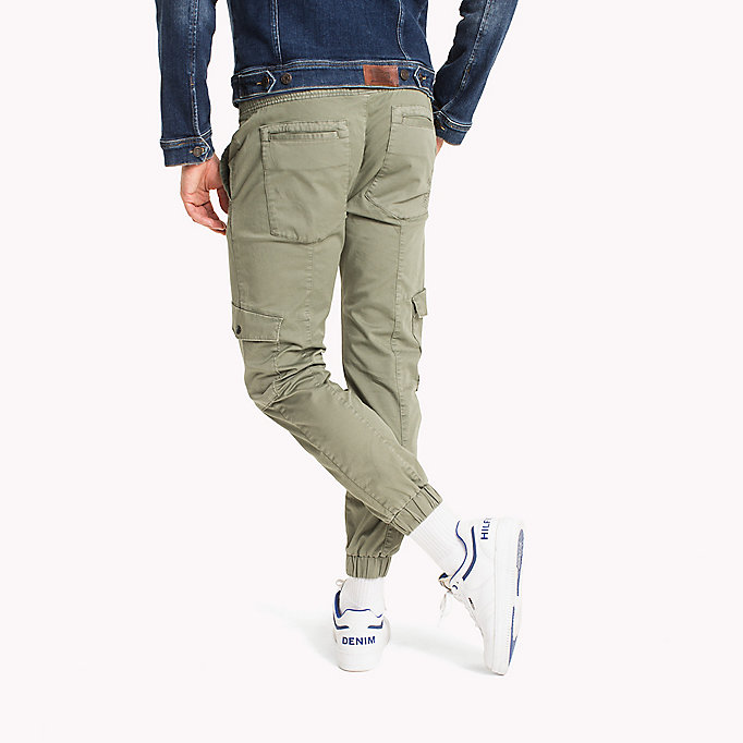 TOMMY JEANS Cargo Tapered Fit Pants - BLACK IRIS - TOMMY JEANS Men - detail image 1
