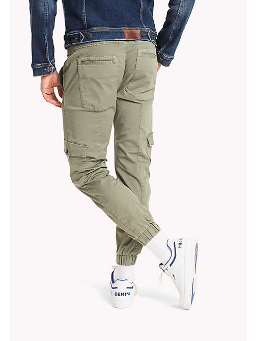 TOMMY JEANS Cargo Tapered Fit Pants - DEEP LICHEN - TOMMY JEANS MEN - detail image 1