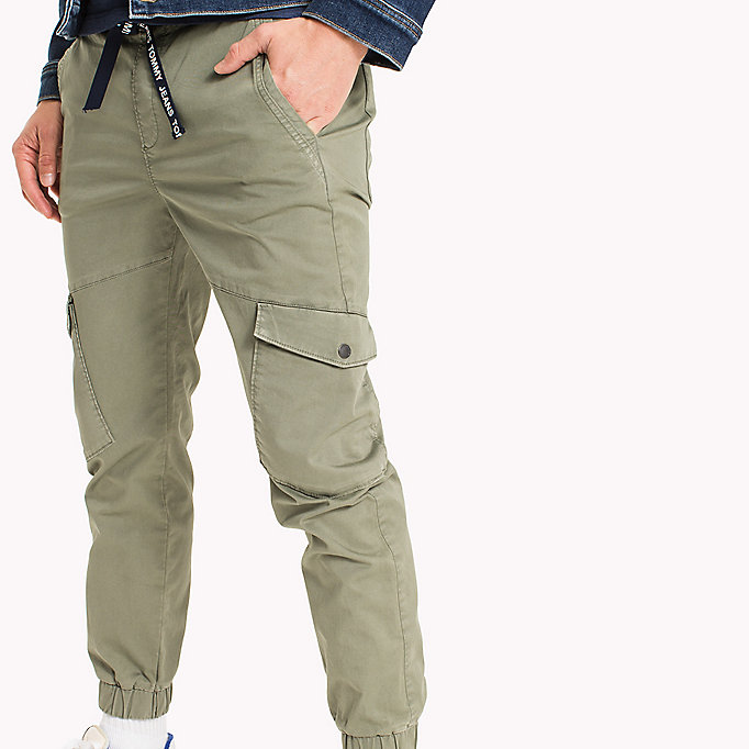 TOMMY JEANS Cargo Tapered Fit Pants - BLACK IRIS - TOMMY JEANS Clothing - detail image 3