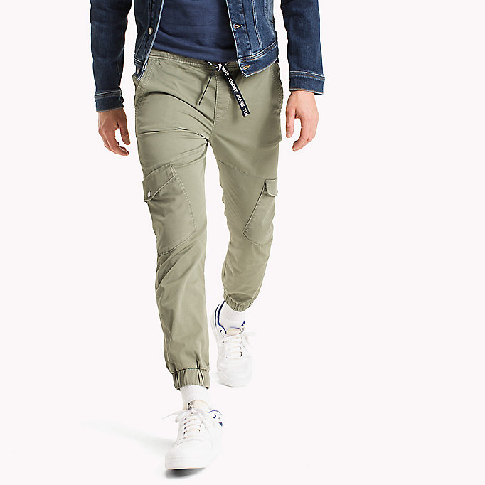 TOMMY JEANS Cargo Tapered Fit Pants - BLACK IRIS - TOMMY JEANS Men - main image