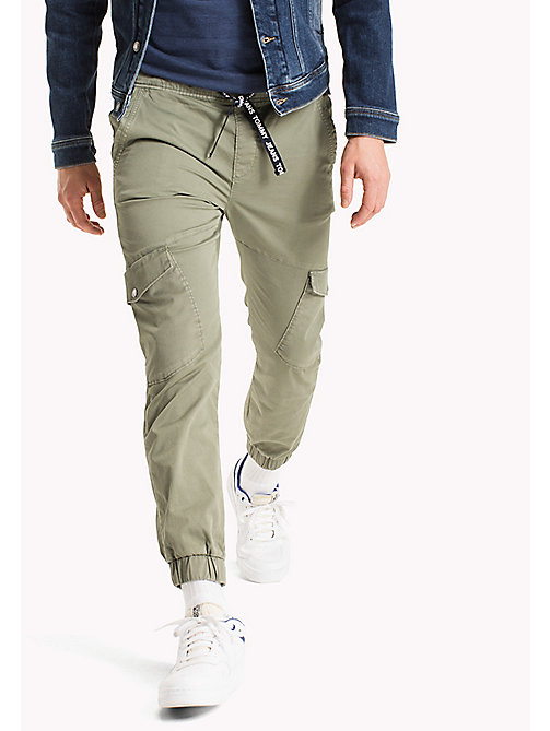 TOMMY JEANS Cargo Tapered Fit Pants - DEEP LICHEN - TOMMY JEANS MEN - main image