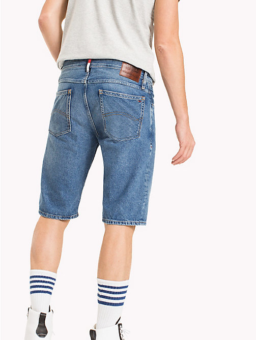 TOMMY JEANS Denim Straight Leg Shorts - TOMMY JEANS MID BLUE RIGID - TOMMY JEANS Clothing - detail image 1
