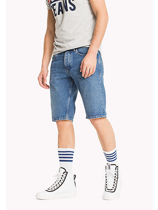 TOMMY JEANS Denim Straight Leg Shorts - TOMMY JEANS MID BLUE RIGID - TOMMY JEANS Shorts - main image