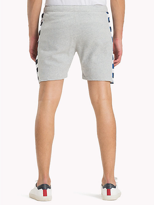 TOMMY JEANS Chequered Knit Beach Shorts - LT GREY HTR - TOMMY JEANS Festival Season - detail image 1