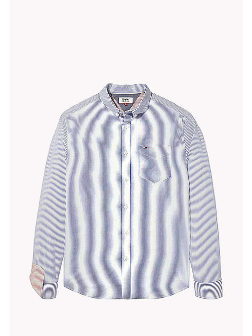 TOMMY JEANS Relaxed Fit Stripe Shirt - CLASSIC WHITE / NAUTICAL BLUE - TOMMY JEANS Shirts - detail image 1