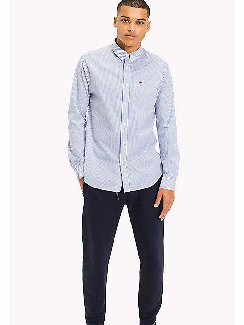 TOMMY JEANS Relaxed Fit Stripe Shirt - CLASSIC WHITE / NAUTICAL BLUE - TOMMY JEANS Shirts - main image