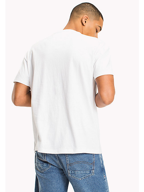 TOMMY JEANS Organic Cotton Graphic T-Shirt - CLASSIC WHITE - TOMMY JEANS Vacation Style - detail image 1