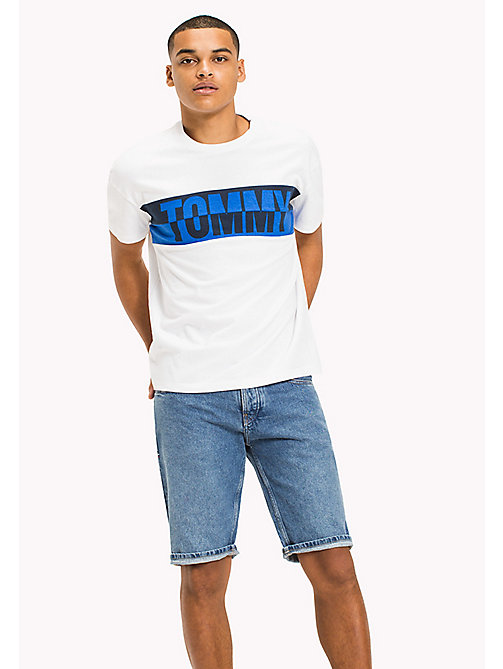 TOMMY JEANS Organic Cotton Graphic T-Shirt - CLASSIC WHITE - TOMMY JEANS Vacation Style - main image
