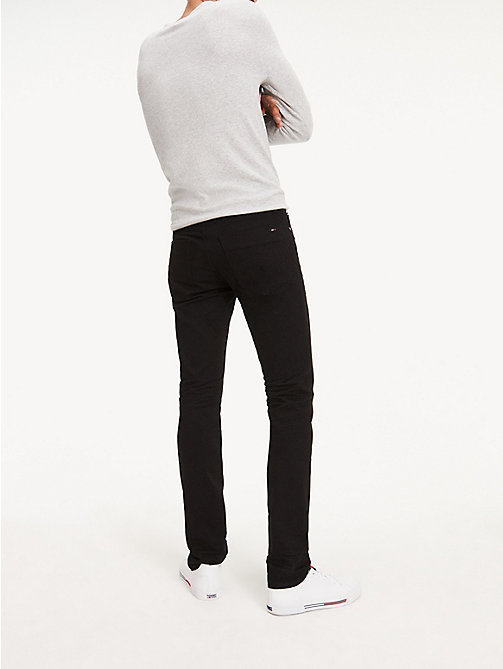 TOMMY JEANS Stretch Slim Fit Cotton Denim Trousers - BLACK COMFORT - TOMMY JEANS Slim Fit Jeans - detail image 1