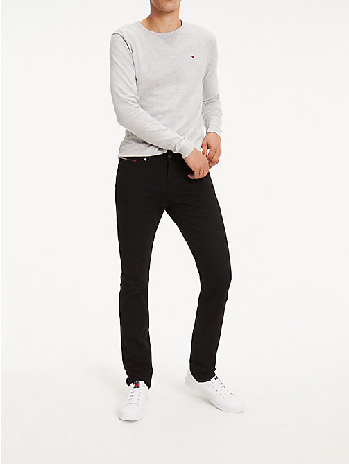 TOMMY JEANS Stretch Slim Fit Cotton Denim Trousers - BLACK COMFORT - TOMMY JEANS Slim Fit Jeans - main image