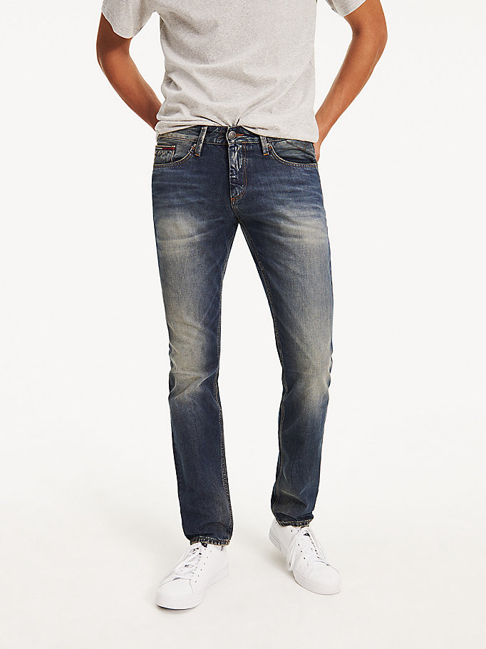denim faded slim fit jeans for men tommy jeans