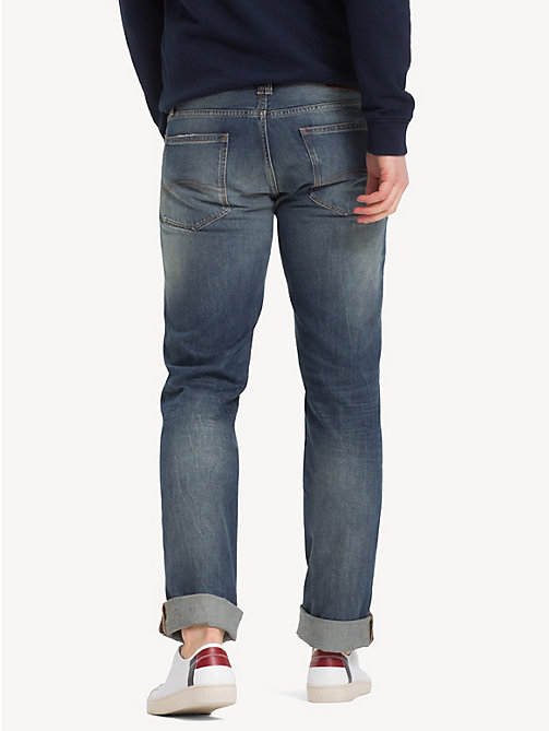 TOMMY JEANS Straight Cut Distressed Jeans - PENROSE BLUE - TOMMY JEANS Clothing - detail image 1