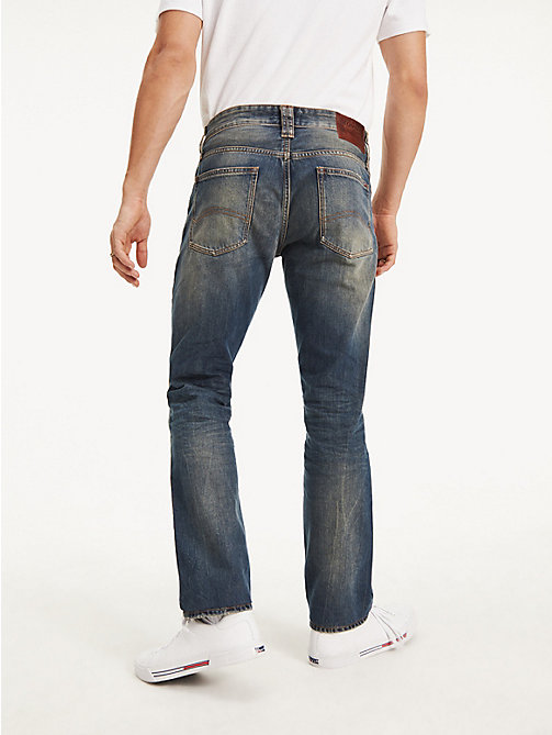 TOMMY JEANS Straight Cut Distressed Jeans - PENROSE BLUE - TOMMY JEANS Straight Fit Jeans - detail image 1