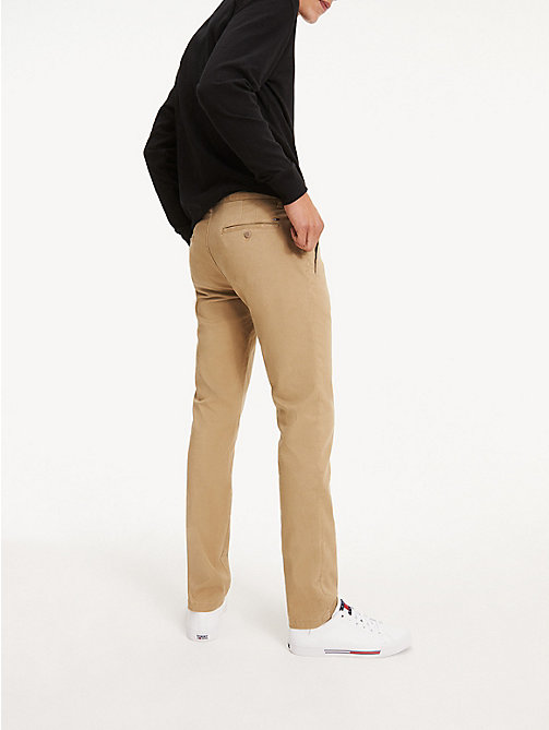 TOMMY JEANS Slim Fit Chinos - KELP - TOMMY JEANS Basics - detail image 1