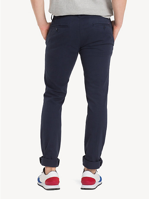 TOMMY JEANS Slim Fit Chinos - NAVY BLAZER - TOMMY JEANS MEN - detail image 1