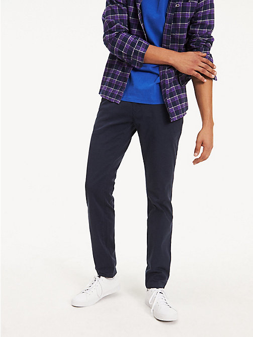 TOMMY JEANS Slim Fit Chinos - NAVY BLAZER - TOMMY JEANS Basics - main image