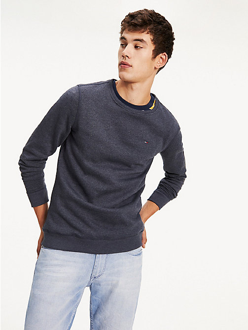 TOMMY JEANS Original Cotton Fleece Sweatshirt - BLACK IRIS - TOMMY JEANS MEN - main image