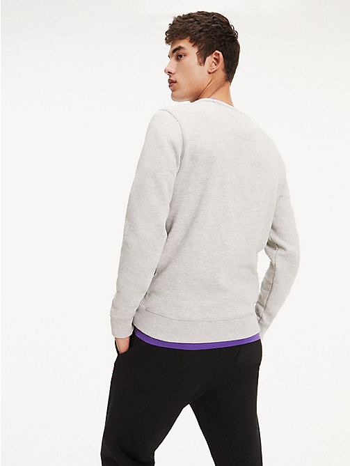 TOMMY JEANS Original Cotton Fleece Sweatshirt - LT GREY HTR -  MEN - detail image 1