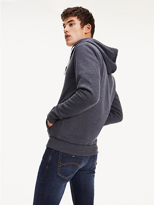 TOMMY JEANS Regular Fit Zipped Hoody - BLACK IRIS - TOMMY JEANS Basics - detail image 1