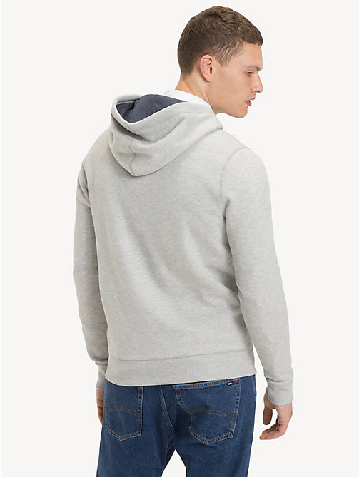 TOMMY JEANS Regular Fit Zipped Hoody - LT GREY HTR - TOMMY JEANS Sweatshirts & Knitwear - detail image 1