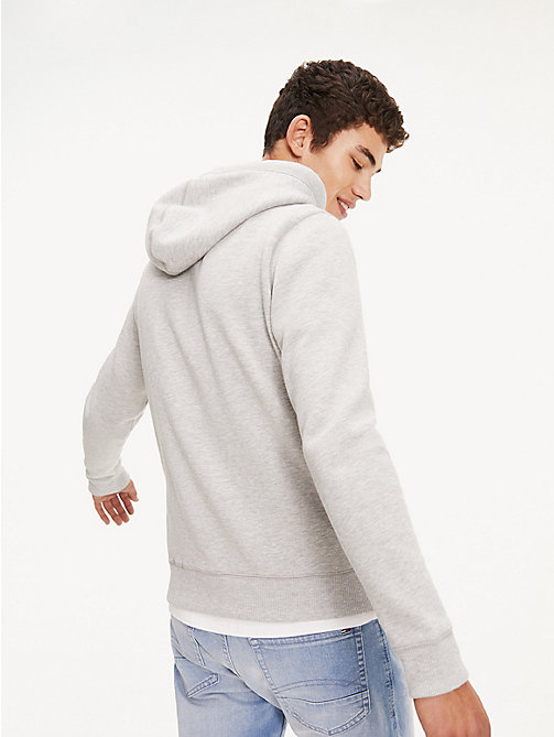TOMMY JEANS Regular Fit Zipped Hoody - LT GREY HTR - TOMMY JEANS Basics - detail image 1