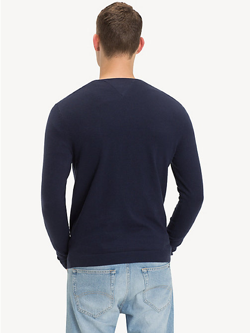 TOMMY JEANS Crew Neck Jumper - BLACK IRIS - TOMMY JEANS TOMMY JEANS MEN - detail image 1
