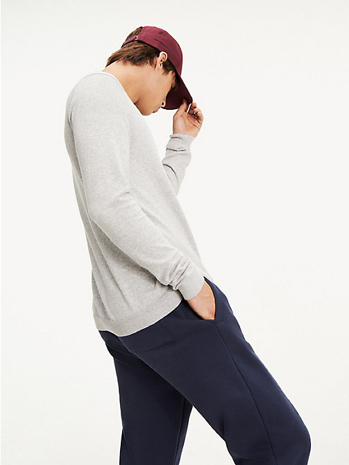 TOMMY JEANS Pullover girocollo - LT GREY HTR - TOMMY JEANS Maglieria - dettaglio immagine 1