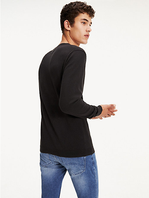 TOMMY JEANS Crew Neck Jumper - TOMMY BLACK - TOMMY JEANS TOMMY JEANS MEN - detail image 1