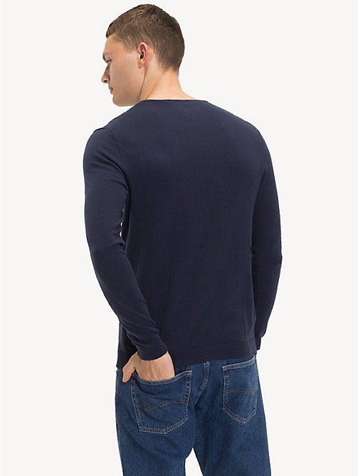TOMMY JEANS Original V-Neck Jumper - BLACK IRIS - TOMMY JEANS MEN - detail image 1