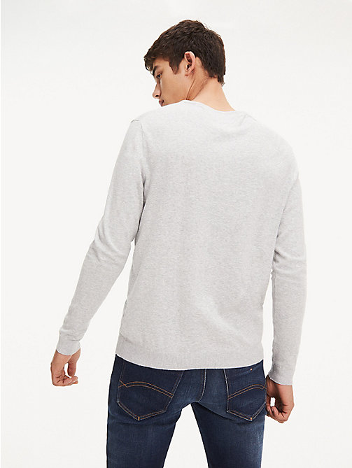 TOMMY JEANS Original V-Neck Jumper - LT GREY HTR - TOMMY JEANS MEN - detail image 1