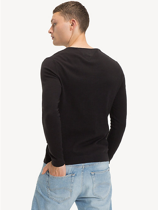 TOMMY JEANS V-Neck Jumper - TOMMY BLACK - TOMMY JEANS TOMMY JEANS MEN - detail image 1