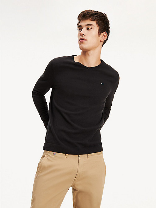 TOMMY JEANS Original V-Neck Jumper - TOMMY BLACK - TOMMY JEANS MEN - main image