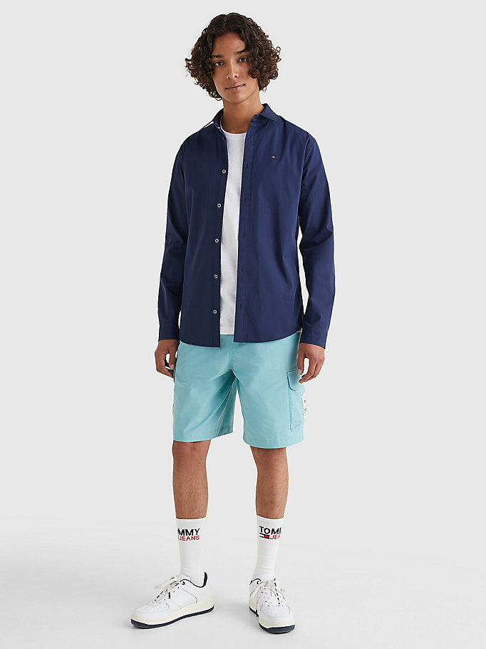 TOMMY JEANS Stretch Slim Fit Shirt - TOMMY BLACK - TOMMY JEANS Men - detail image 1