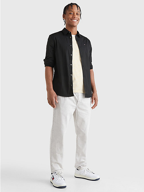 TOMMY JEANS Slim Fit Hemd mit Stretch - TOMMY BLACK - TOMMY JEANS Basics - main image 1
