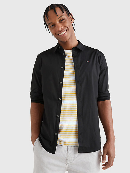 TOMMY JEANS Stretch Slim Fit Shirt - TOMMY BLACK - TOMMY JEANS Shirts - main image